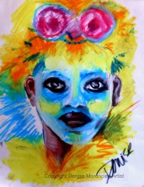 Mardi Gras Indian child